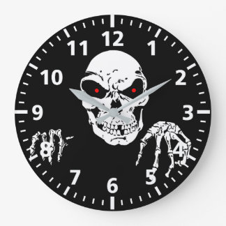 Halloween-Schädel-Uhr Große Wanduhr