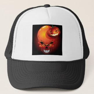 Halloween-Schädel und Kürbis-Hut Truckerkappe