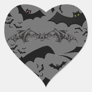 Halloween-Schläger Herz-Aufkleber