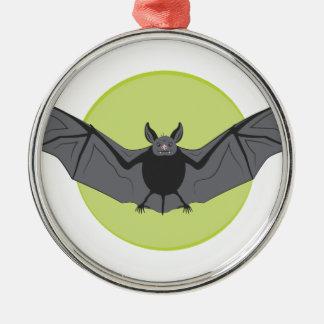 Halloween-Schläger Rundes Silberfarbenes Ornament