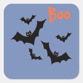 Halloween schlägt Preise Quadratischer Aufkleber