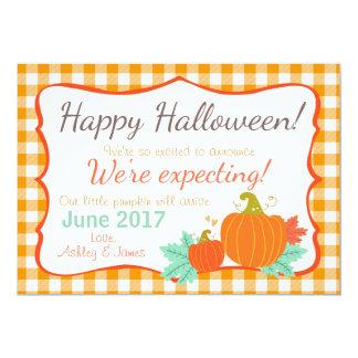 Halloween-Schwangerschaftsmitteilung Kürbis Karte