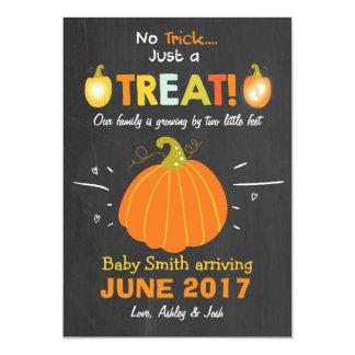 Halloween-Schwangerschaftsmitteilung Trick oder Karte