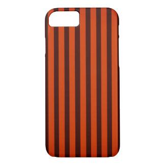 Halloween schwarz und Orange striped iPhone 8/7 Hülle
