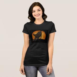 Halloween schwarzes sphynx Katzent-stück T-Shirt