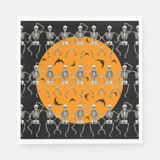 Halloween-Servietten-Vintage Art-Skelette Papierserviette