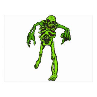 Halloween-Skelett Postkarte