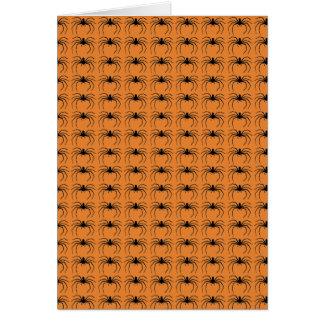Halloween-Spinnen-beängstigendes orange Schwarzes Karte