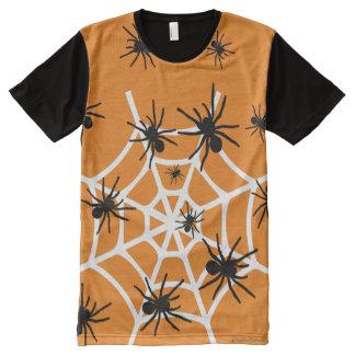 Halloween-Spinnen T-Shirt Mit Komplett Bedruckbarer Vorderseite