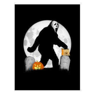 Halloween Squatchin Postkarte