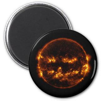 Halloween Sun/Kürbislaterne Runder Magnet 5,1 Cm