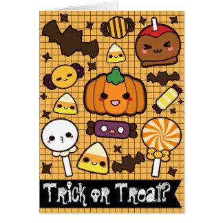 Halloween-Süßigkeits-Leckereien Karte