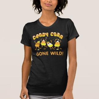 Halloween-Süßigkeits-Mais-Schwarz-T-Shirt T-Shirt