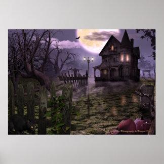 "Halloween-Szene 28"" x 20"" Plakat"