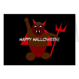 Halloween-Teufel Karte