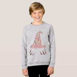 Halloween-Text, Form-Hexehut, Wolke Sweatshirt
