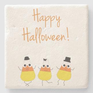 Halloween-Untersetzer mit Tanzen-Süßigkeits-Mais Steinuntersetzer