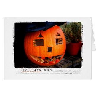 Halloween verrottete heraus Kürbis Grußkarte