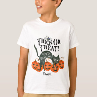 Halloweenboo-T-Shirt Name des Tricks oder der T-Shirt