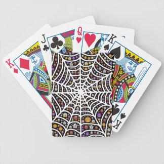 HalloweenGhouls u. -kobolde in einem Spiderweb Bicycle Spielkarten