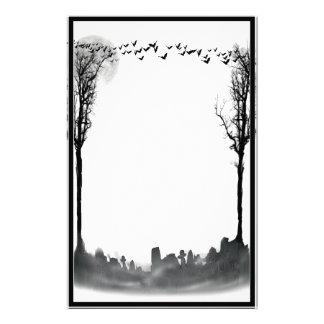 Halloweengraveyard-Szenen-Silhouette Briefpapier