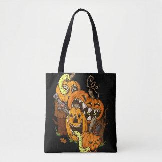Halloweenkürbis-und -schlangen-Tasche Tasche