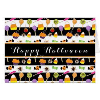 Halloweensüßigkeit u. -Süßigkeiten, die Karte