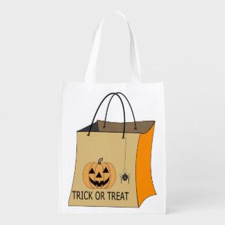 Halloweentrick-oder -Leckerei-Tasche Wiederverwendbare Einkaufstasche