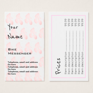 """Hallt"" Fahrrad-Bote-Preis-Karten wider Visitenkarte"