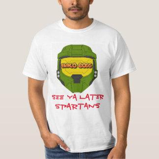Halo-Chef-spartanischer Armee-T - Shirt