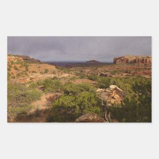Hals-Frühlings-Spur an Canyonlands Nationalpark Rechteckiger Aufkleber