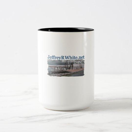 Halt die Schnauze und Farbe 1 Zweifarbige Tasse