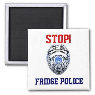 Halt! Kühlschrank-Polizei-Magnet Quadratischer Magnet