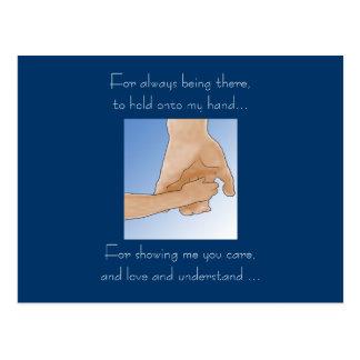 Halten der vatertags-der Karte Hand Postkarte