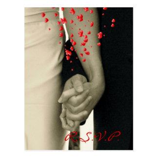 Halten Handdes modernen Hochzeitswarte-UAWG Postkarte