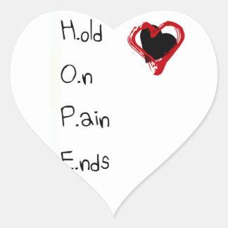 Halten Sie an den Schmerz-Enden Herz-Aufkleber