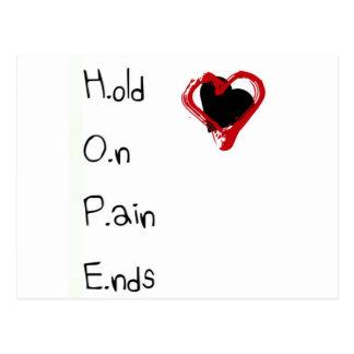 Halten Sie an den Schmerz-Enden Postkarte