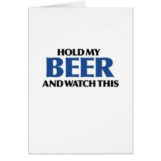 Halten Sie mein Bier (den blauen Bomber) Karte