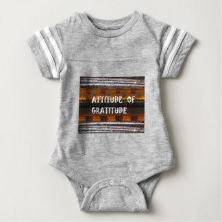 HALTUNG der Dankbarkeits-Text-Klugheits-Wörter Baby Strampler