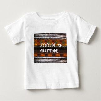 HALTUNG der Dankbarkeits-Text-Klugheits-Wörter Baby T-shirt