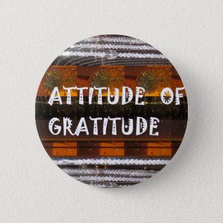 HALTUNG der Dankbarkeits-Text-Klugheits-Wörter Runder Button 5,1 Cm