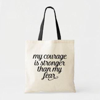 Haltung, Furcht, Erfolgs-Leben-inspirierend Zitat Tragetasche