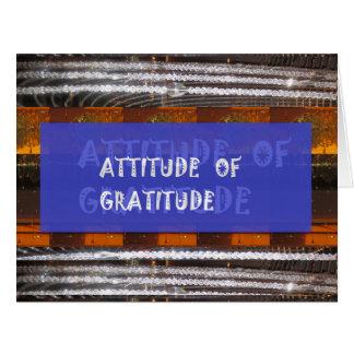 Haltung von Dankbarkeit Karte