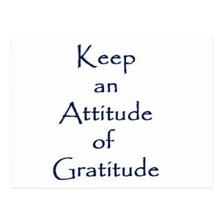 Haltung von Dankbarkeit Postkarte
