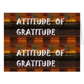 Haltung von Dankbarkeit Riesige Grußkarte