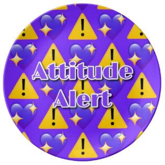 "Haltungs-Alarm 10,75"" dekorative Porzellan-Platte Teller"