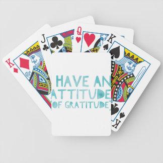 Haltungs-Dankbarkeits-ErholungDetox OM Bicycle Spielkarten
