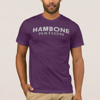 Hambone Nations-Auberginen-T-Stück T-Shirt
