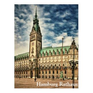 Hamburg Rathaus, Deutschland Postkarte