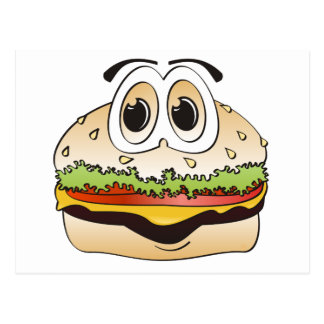 Hamburger-Cartoon Postkarte